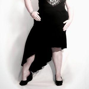 TORRID Black High Low Sideways Dance Skirt Size 2X